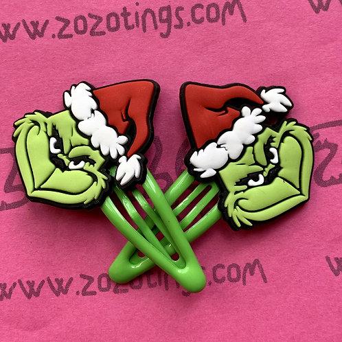 The Grinch Stole Christmas Snap Hair Clips