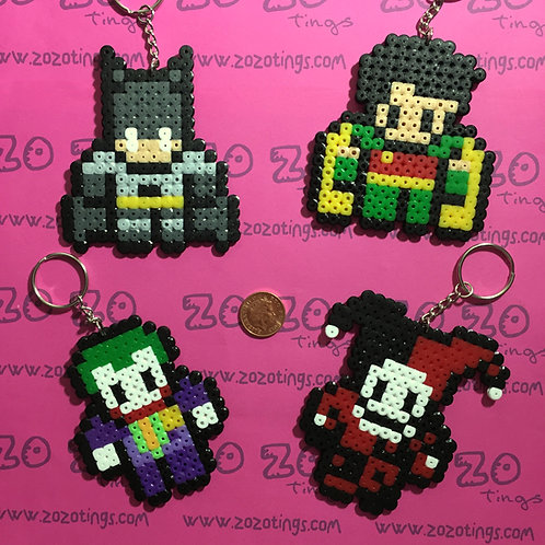 Batman Pixel Keyrings