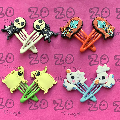 Nightmare Before Christmas Snap Hair Clips
