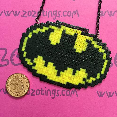 Batman Logo Pixel Necklace