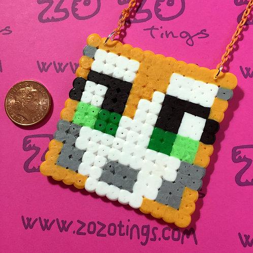 StampyLongNose Pixel Necklace
