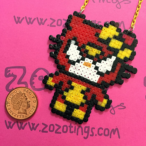 Spider-Woman Kitty Pixel Necklace