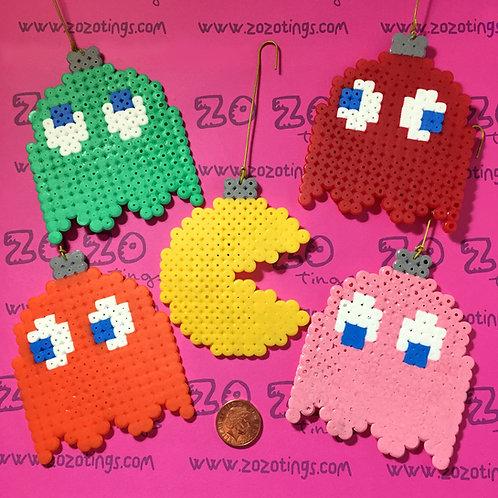 Pac-Man Christmas Pixel Baubles