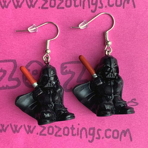 Star Wars Darth Vader Fighter Pod Earrings