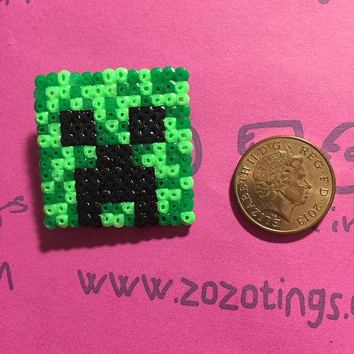 Minecraft Creeper Pixel Badge