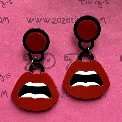 Luscious Lips Stud Earrings