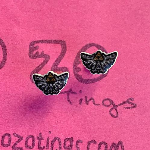 Legend of Zelda Hylian Crest Resin Stud Earrings