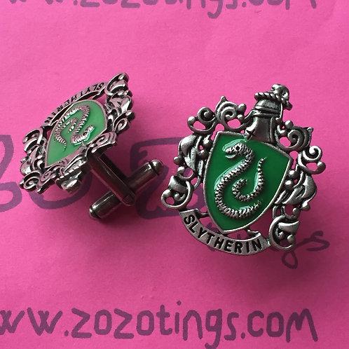 Harry Potter House Slytherin Metal Cufflinks
