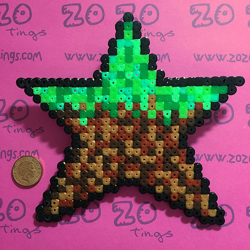 Minecraft Dirt Star Christmas Tree Topper
