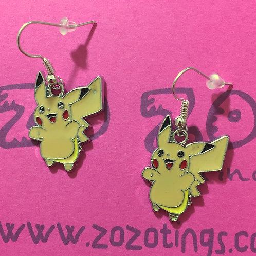Pokemon Pikachu Metal Earrings