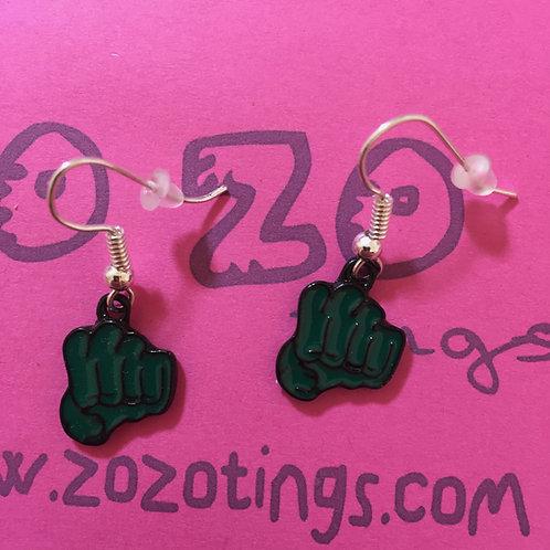 The Hulk Metal Earrings