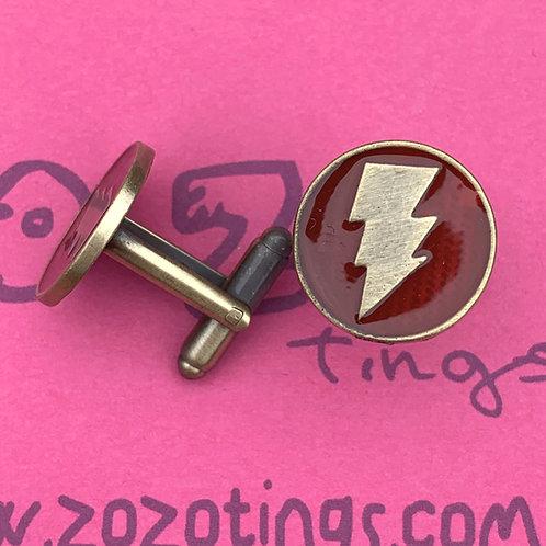 Shazam Metal Cufflinks