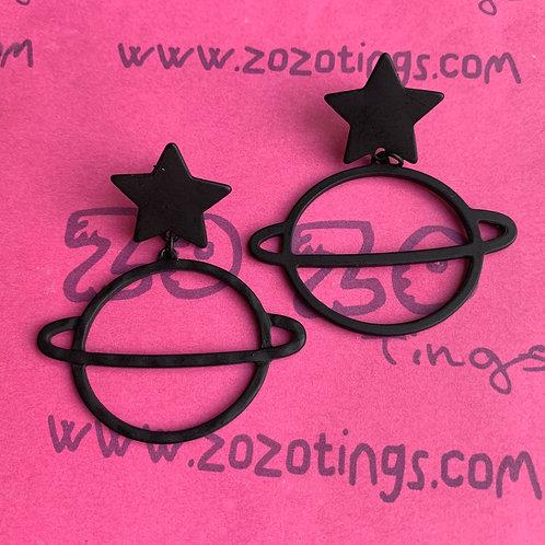 Dark Planet Stud Earrings
