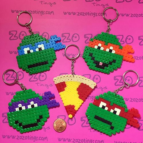 Turtles 'TMNT' Pixel Keyrings