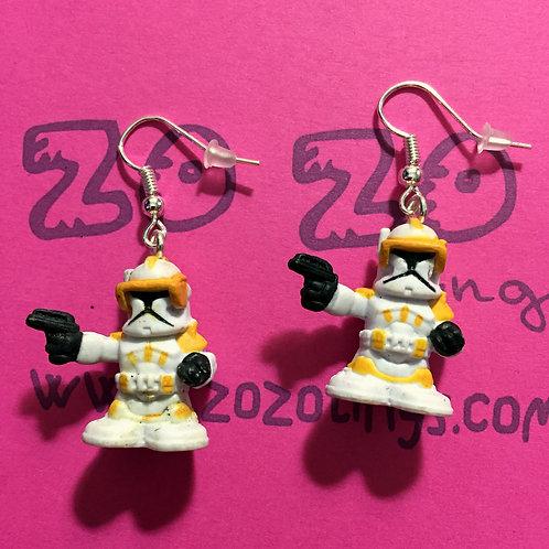 Star Wars Commander Cody Fighter Pod Earrings
