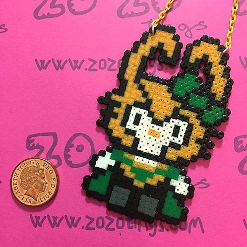 Loki Kitty Pixel Necklace