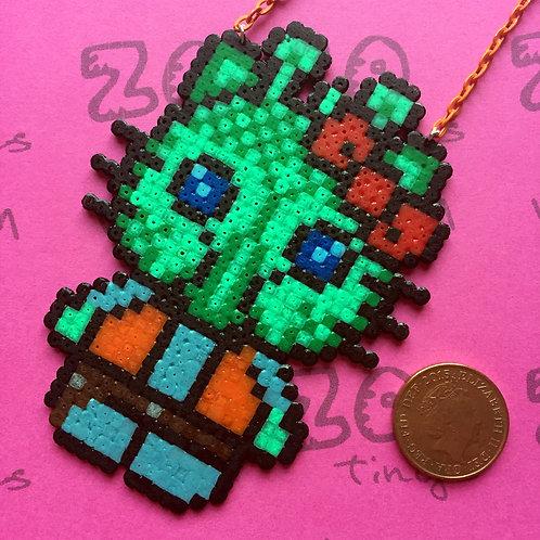 Star Wars Greedo Kitty Pixel Necklace