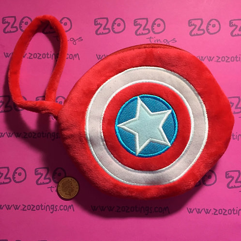 Captain America Shield Coin Purse