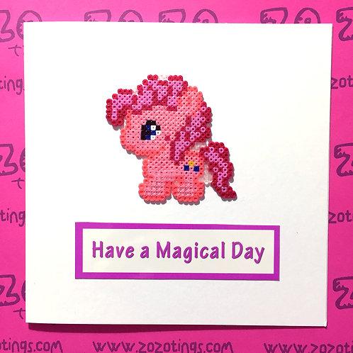 My Little Pony Card (Pinkie Pie)