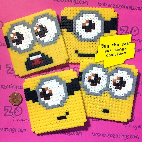 Minion Pixel Coasters