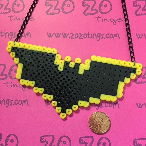 Batman Wing Pixel Necklace