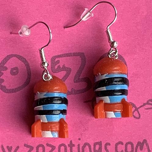 Toy Story Rocket Running Earrings