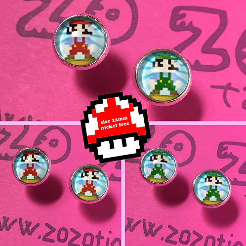 Mario Bros. Stud Earrings