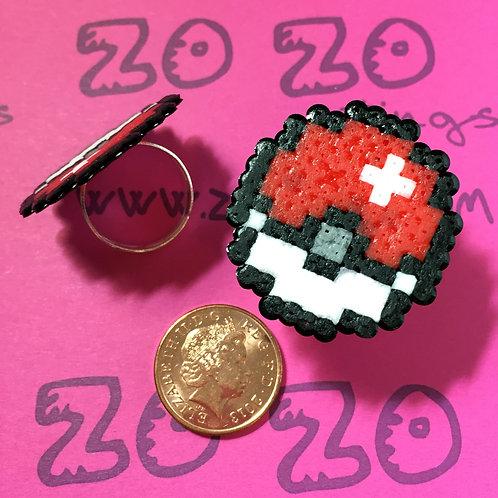 Pokemon Poké Ball Pixel Rings