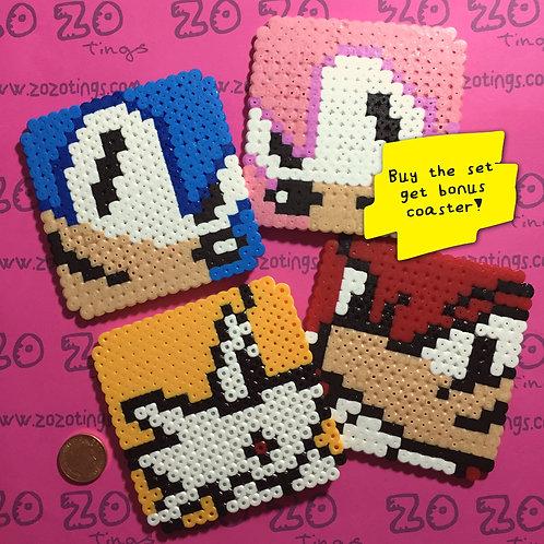 Sonic the Hedgehog Pixel Coasters