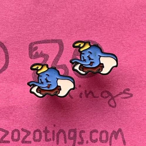 Dumbo Metal Stud Earrings