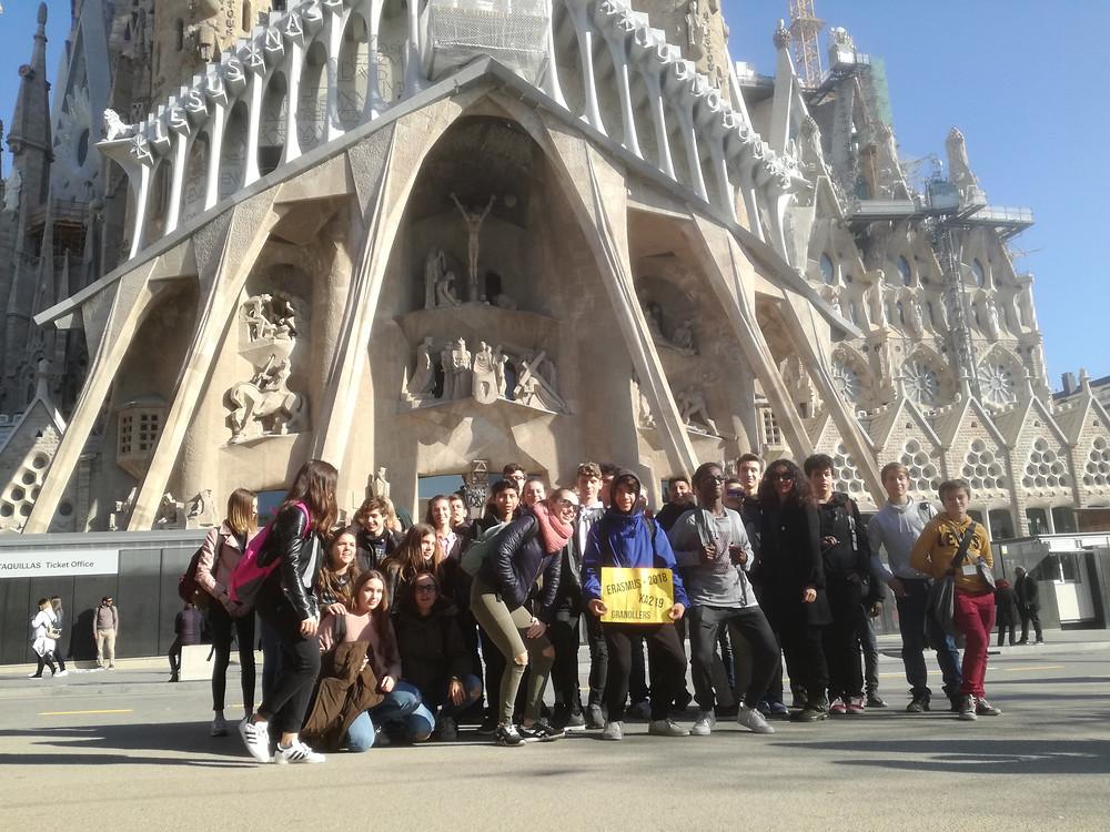 Erasmus gruop in Barcelona