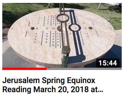 2018 Spring Equinox Reading at Jerusalem Sundial