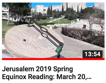 Spring Equinox Reading Jerusalem Israel Enoch Calendar
