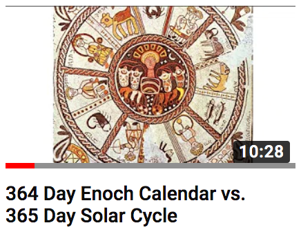 364 Day Enoch Calendar ≠ 365 Day Solar Cycle