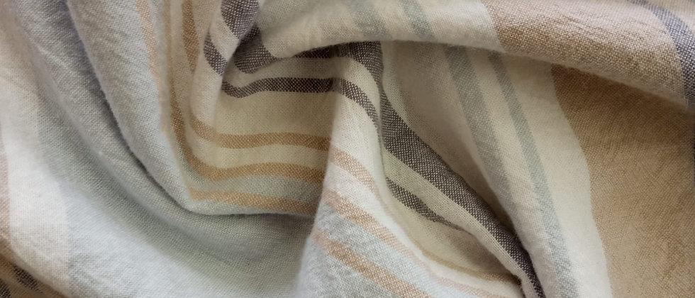 Set lenzuola rigato in puro cotone stone washed no stiro lavato in capo