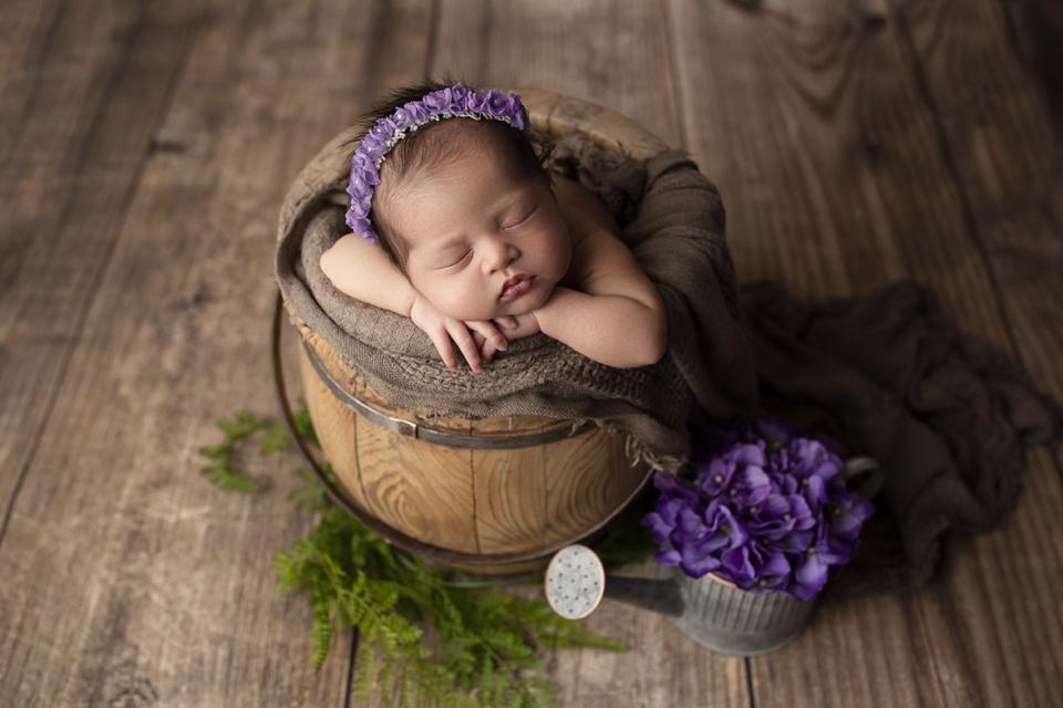Newborn in a prop