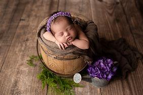 Newborn in prop