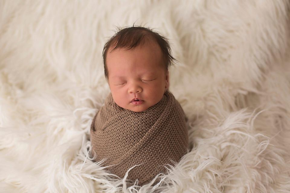 newborn posing
