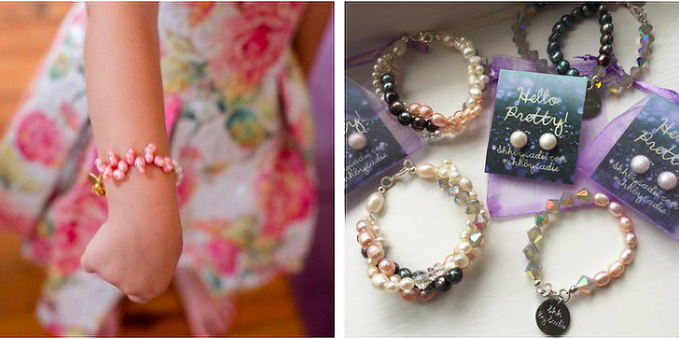 Make your own pearl + crystal bridal and bridesmaid bracelets