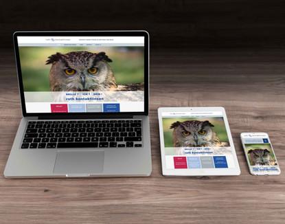 Webseiten Design für Roth Kontaktlinsen in Bern