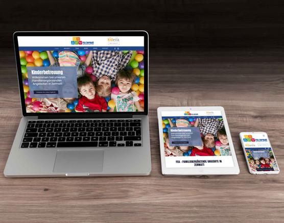 Webdesign für FEA Zermatt