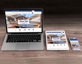 Website Design für Chalet Petit Zermatt