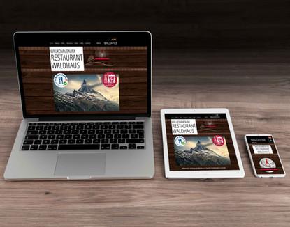Webseiten erstellen für Restaurant Waldhaus in Zermatt