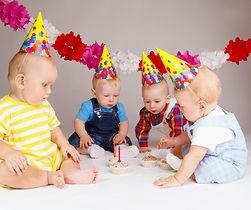 Babys am feiern