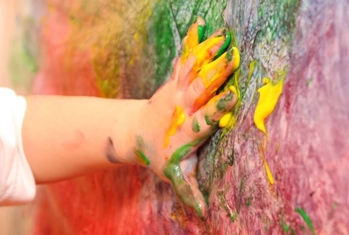 pintura-dedos-niños
