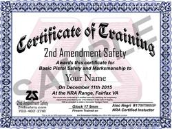 2AS certificate sample