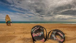 Maslins beach thongs and funny man.jpg