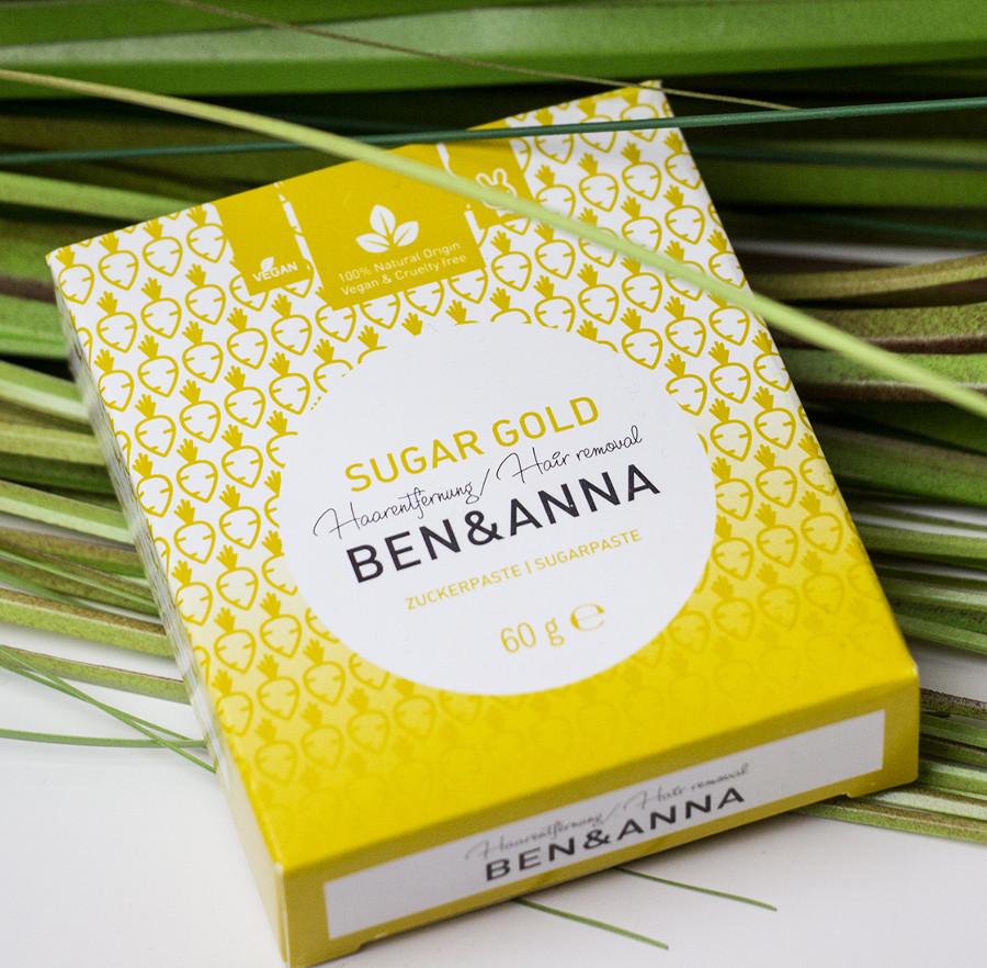 Ben & Anna Sugar Gold - Hair Removal Sugar Paste 60g