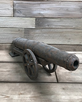 Small rusted cannon