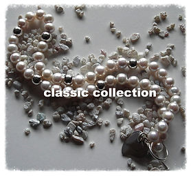 Massive White Pearls with Silver Balls and Silver Double-Heart Charm    SOLD!